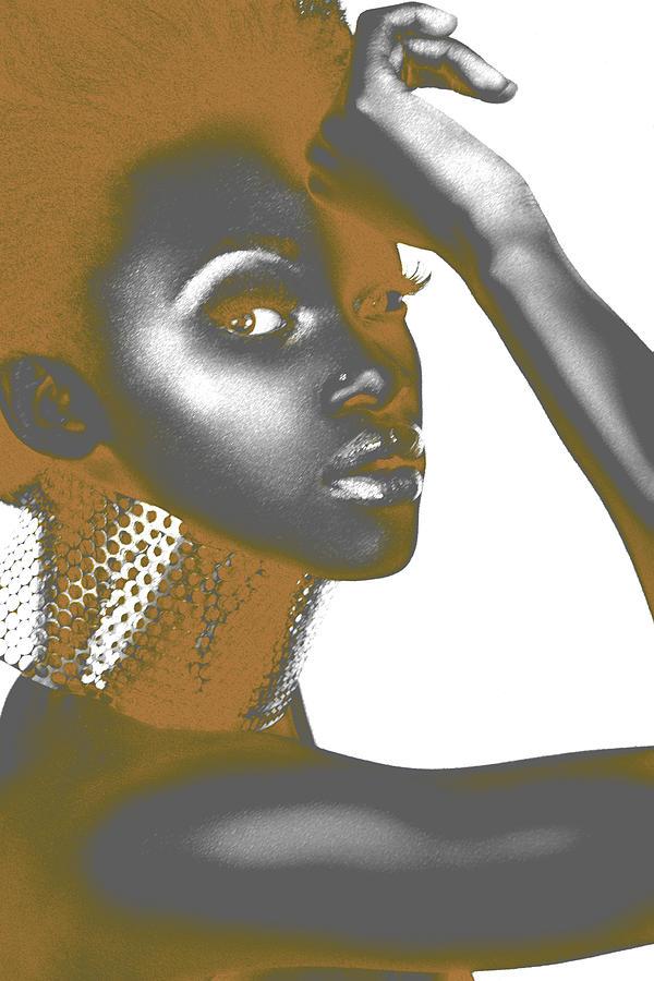 African Digital Art - Nesha by Naxart Studio
