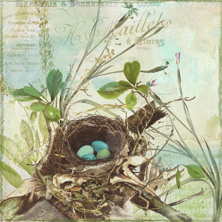 Bird Nest Painting - Nesting I by Mindy Sommers
