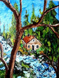 Landscape Painting - Nestled Away by Phil Cashdollar