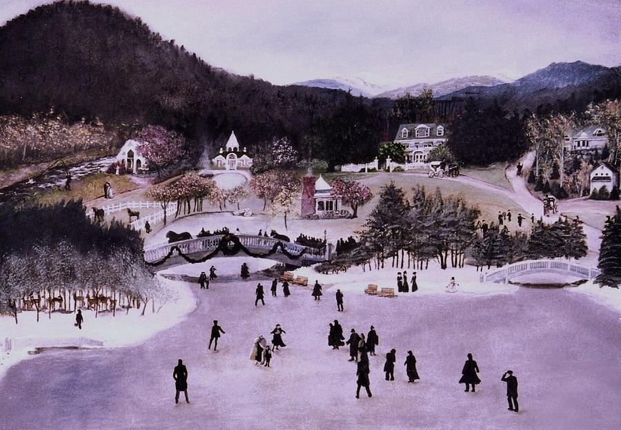 Victorian Painting - Nestlenook Farm Holiday by Gail Wurtz