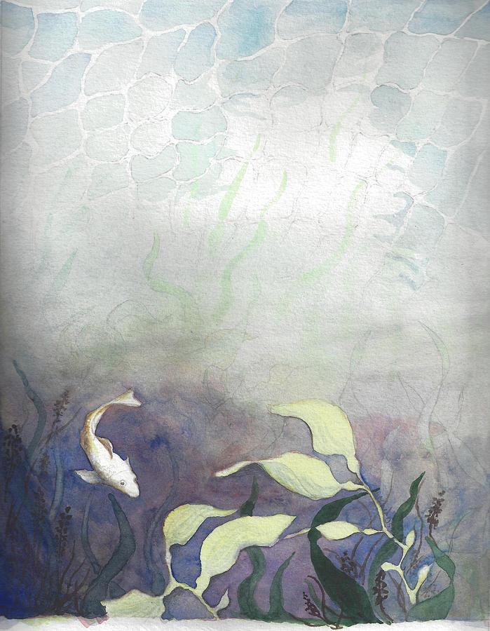 Fish Painting - Net Loss by Rachel Osteyee