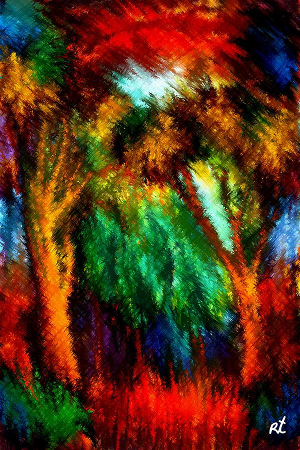 Forest Painting - net by Rafi Talby