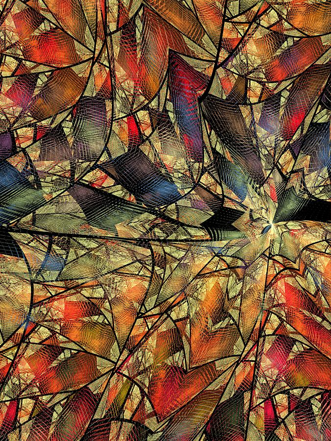 Abstract Digital Art - Net Webbed Wall by Ian Duncan Anderson
