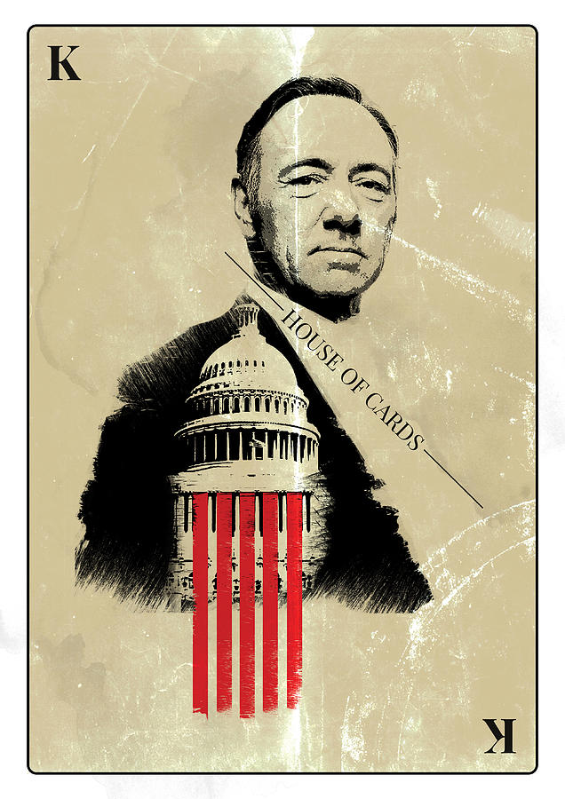 Movie Digital Art - Netflix House Of Cards Frank Underwood Portrait  by IamLoudness Studio
