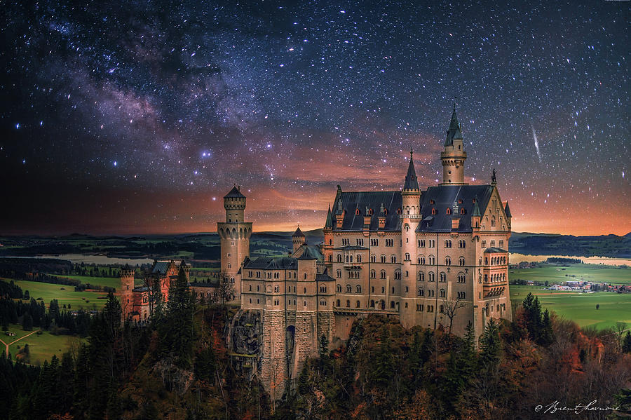 Neuschwanstein Castle Digital Art by Brent Shavnore