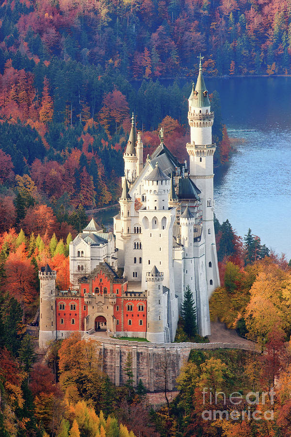 Germany Photograph - Neuschwanstein - Germany by Henk Meijer Photography