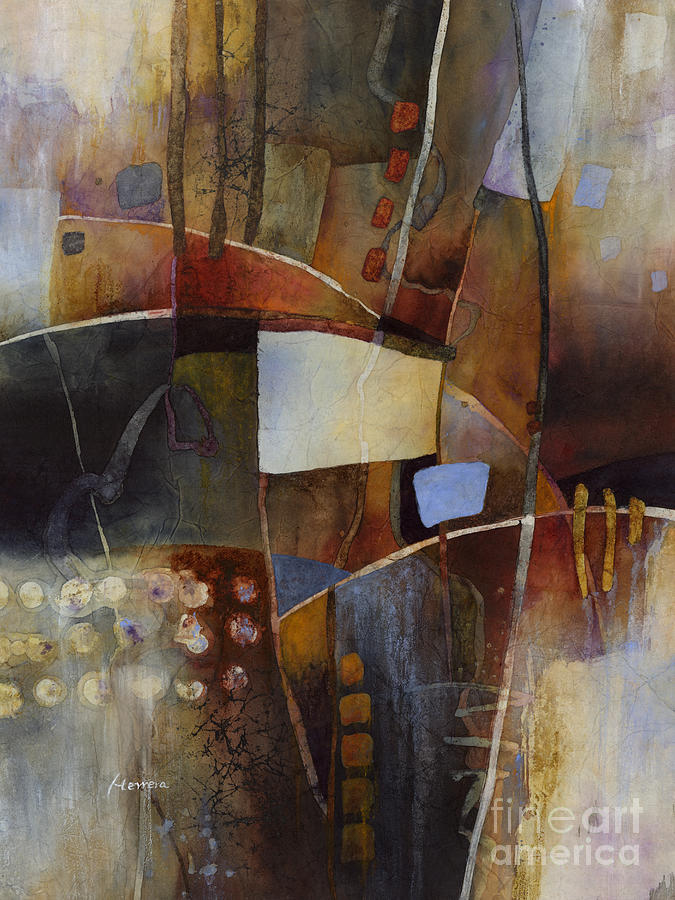 Abstract Painting - Neutral Elements 2 by Hailey E Herrera