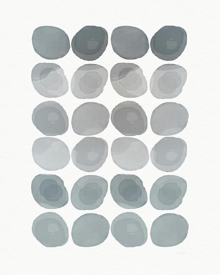 Modern Mixed Media - Neutral Stones- Art By Linda Woods by Linda Woods