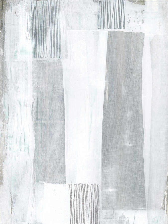Abstract Painting - Neutral Stripes Light by Janine Aykens
