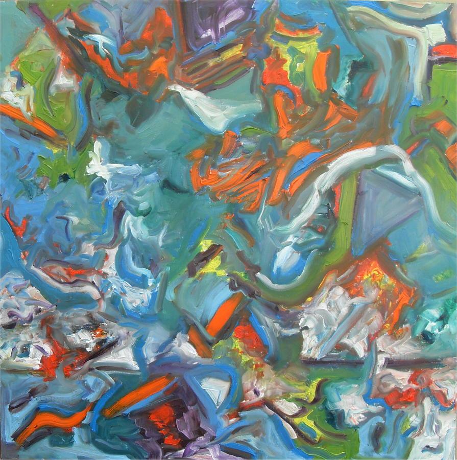 Neutrinos Painting by Helmut Licht