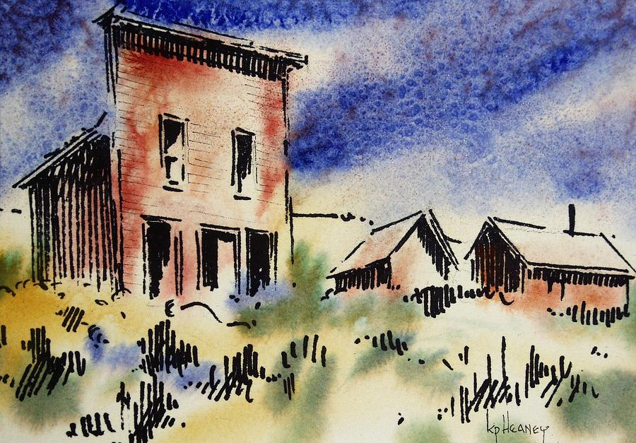 Ghost Town Mixed Media - Nevada Ghost Town by Kevin Heaney