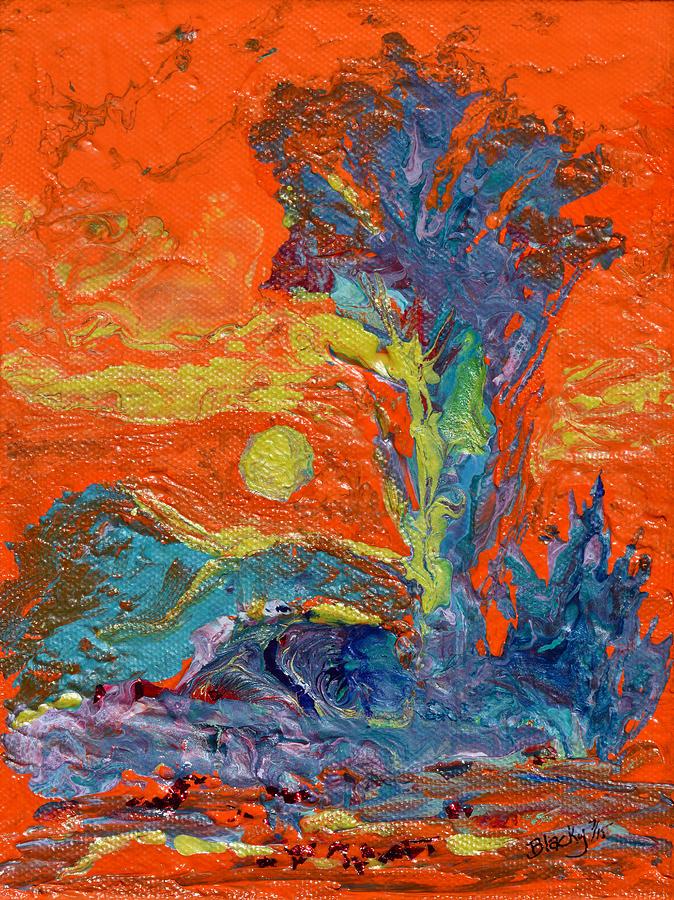 Desert Painting - Nevada Heat by Donna Blackhall