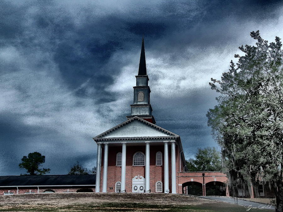 Church Photograph - Never Alone by Gina Welch