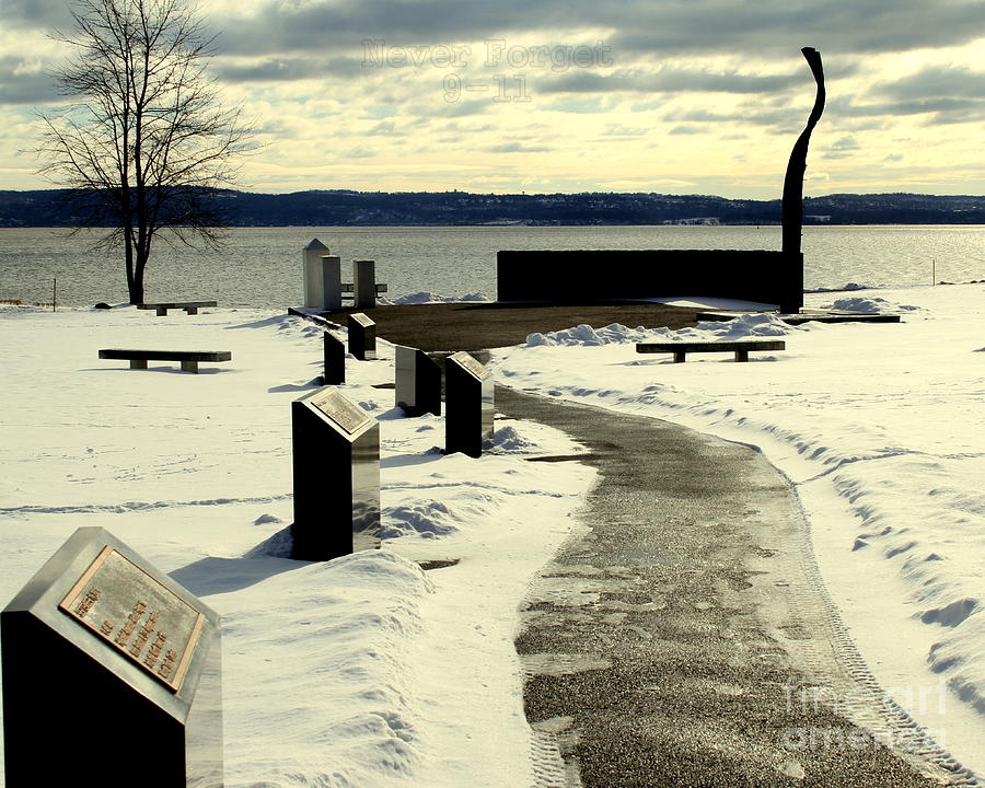Hudson River Photograph - Never Forget 9 11 Memorial by DazzleMe Photography