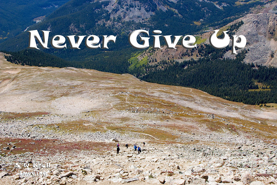 Never Give Up On Mount Yale Colorado Photograph