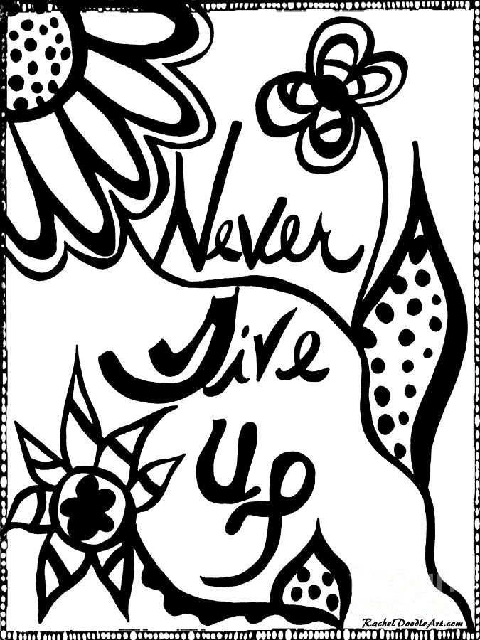 Never Give Up by Rachel Maynard