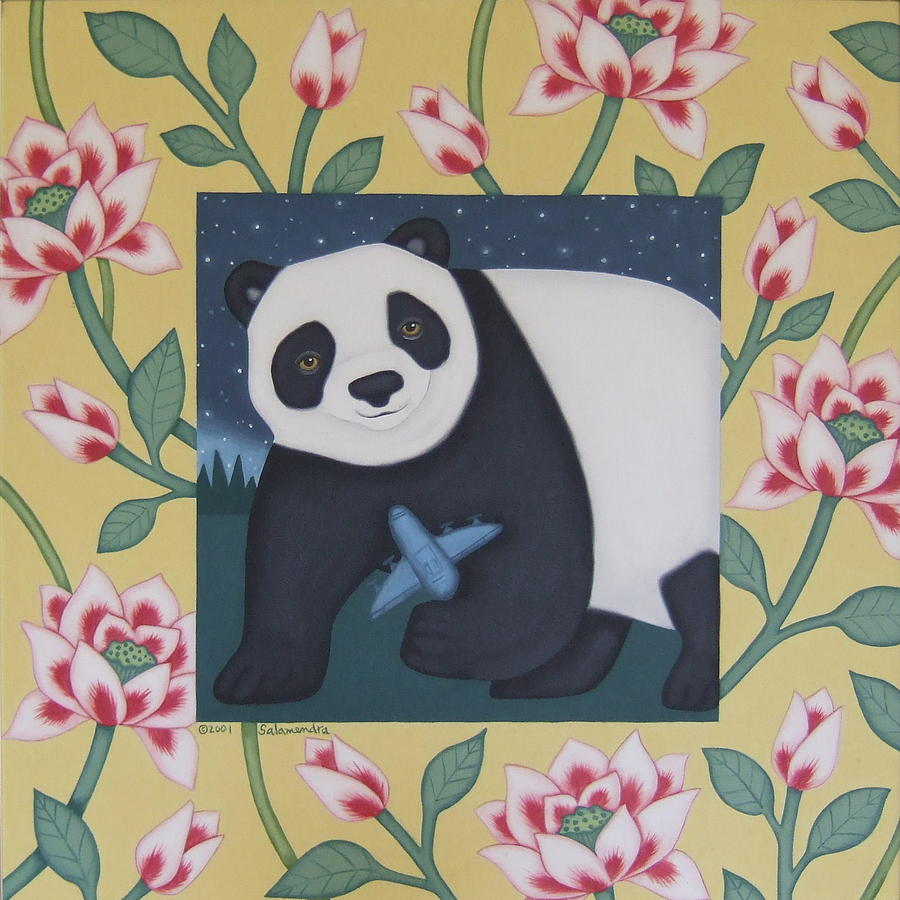 Panda Painting - Never Having To Say You by Arlene Salamendra