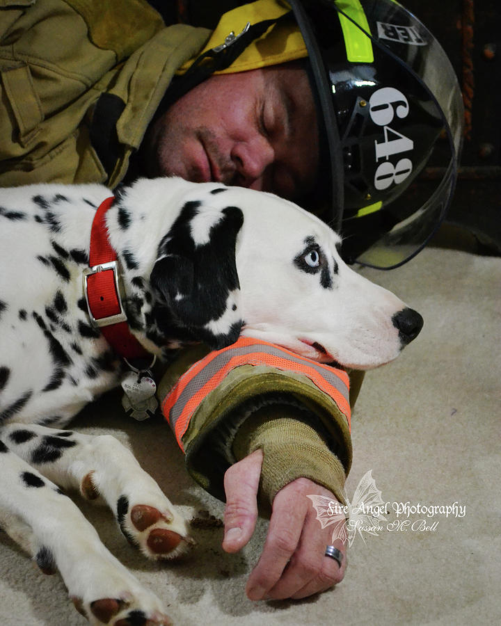 Firefighter Photograph - Never Leave Your Partner by Sussan Bell