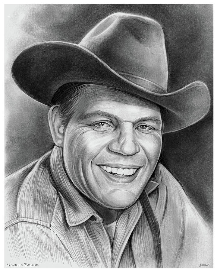 Neville Brand Drawing