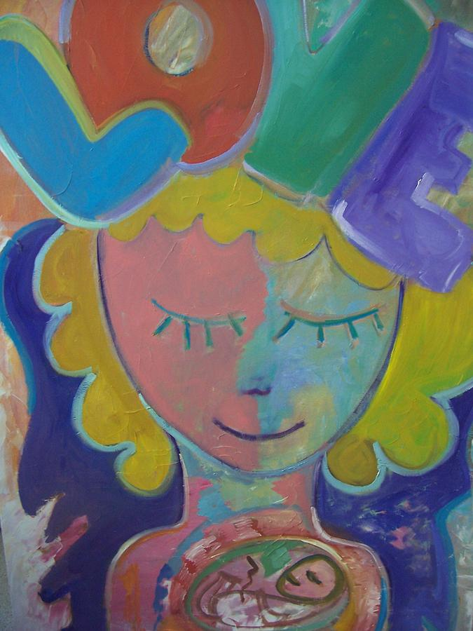 Baby Painting - New Baby Love by Maria Beyhaut
