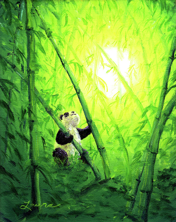 Zen Painting - New Bamboo Leaves by Laura Iverson