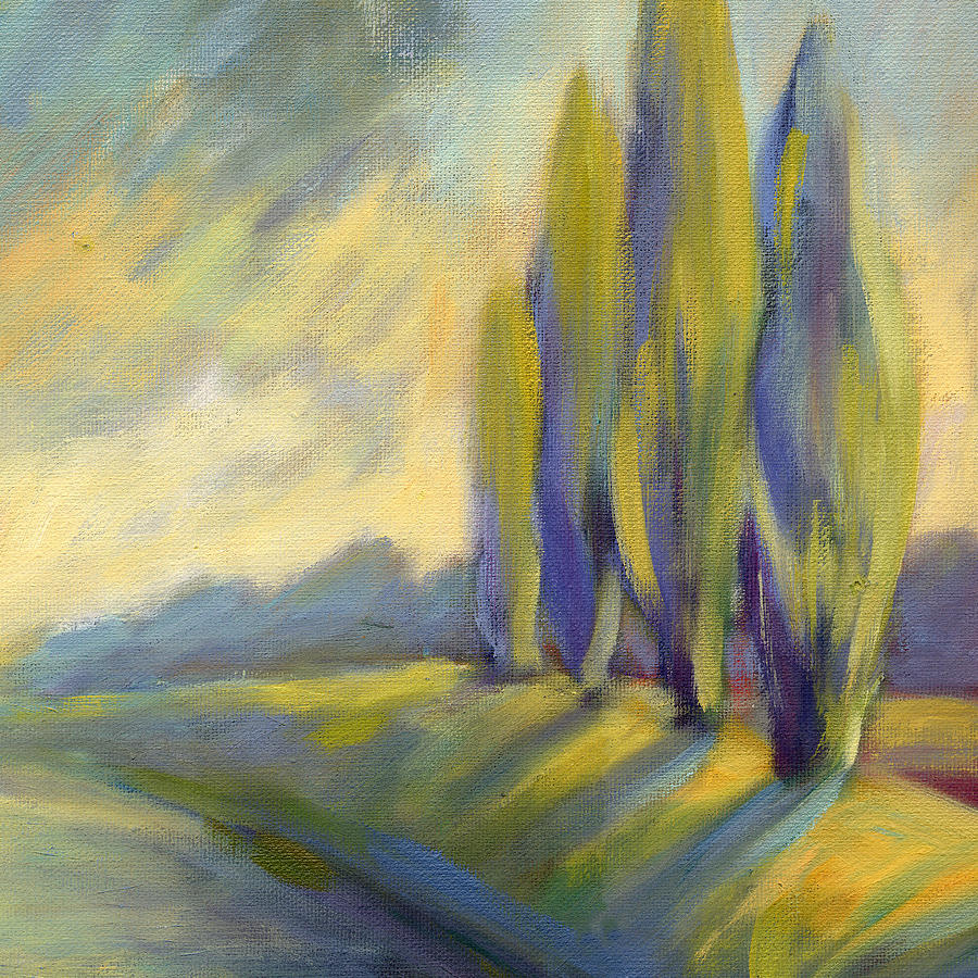 Trees Painting - New Beginning 3 by Konnie Kim