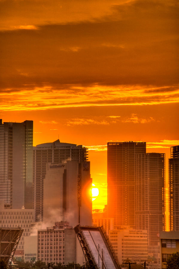 Miami Photograph - New Day In The City by William Wetmore