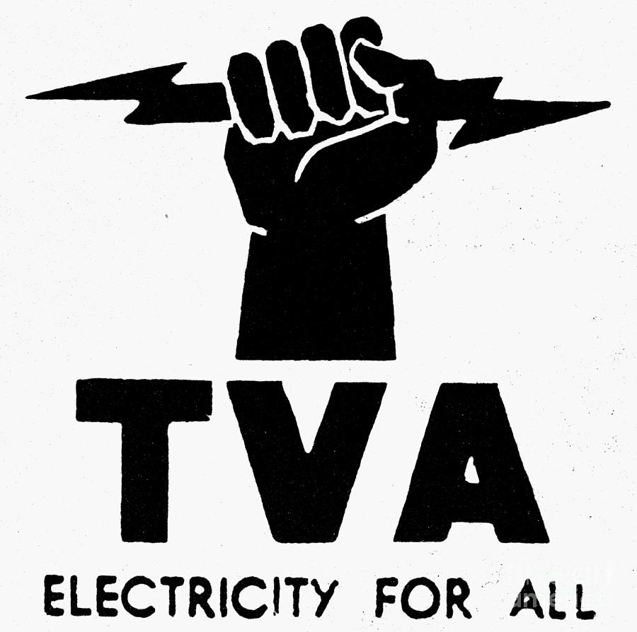 New Deal Tva Symbol Photograph By Granger