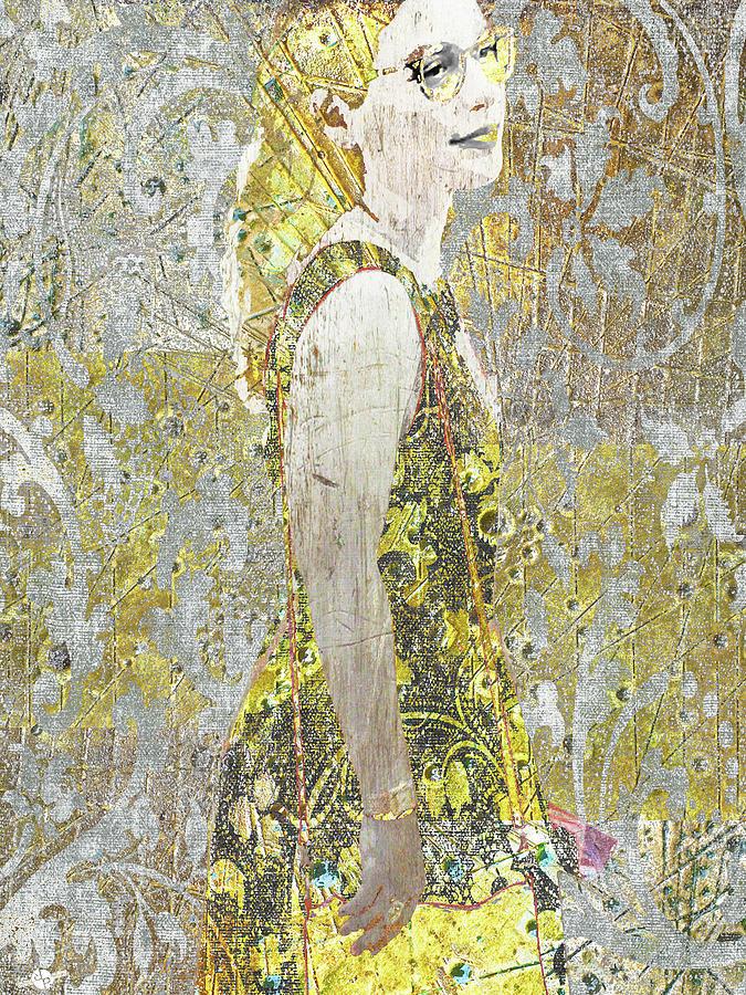 Woman Mixed Media - New Dress by Tony Rubino