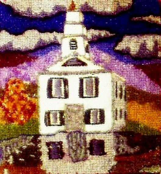 Textile Tapestry - Textile - New England Church by Bets F