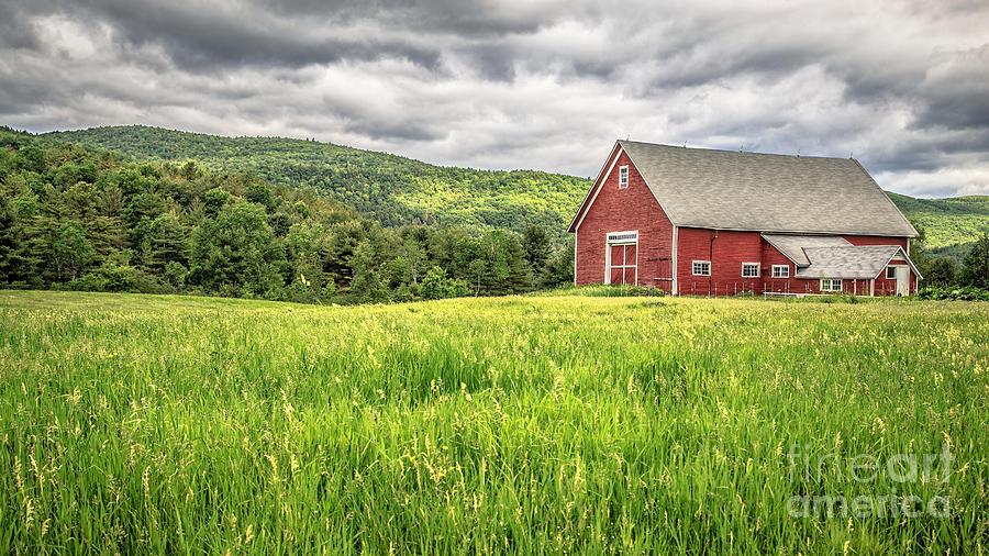 New Hampshire Photograph - New England Farm Landscape by Edward Fielding