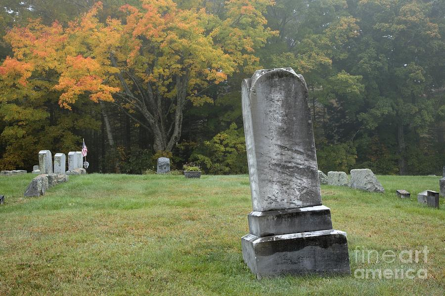 Graveyard Photograph - New England Graveyard During The Autumn  by Erin Paul Donovan