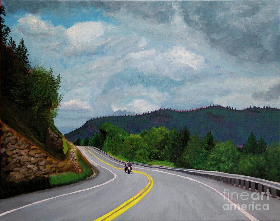 New England Journeys - Motorcycle 1 by Marina McLain