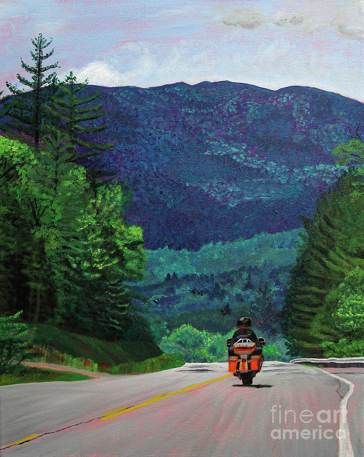 New England Journeys - Motorcycle 2 by Marina McLain