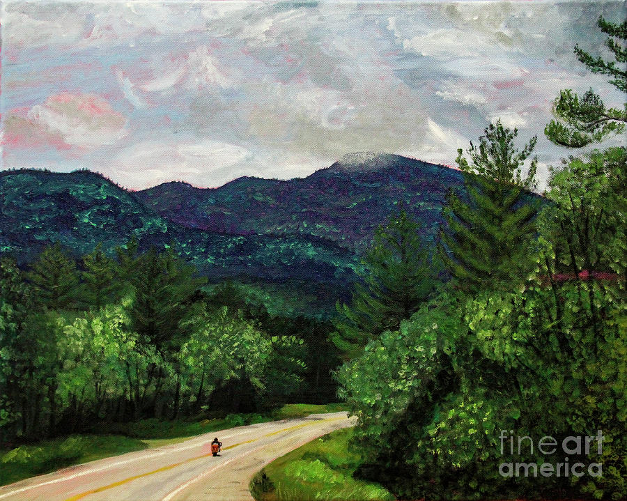 New England Journeys - Motorcycle 3 by Marina McLain