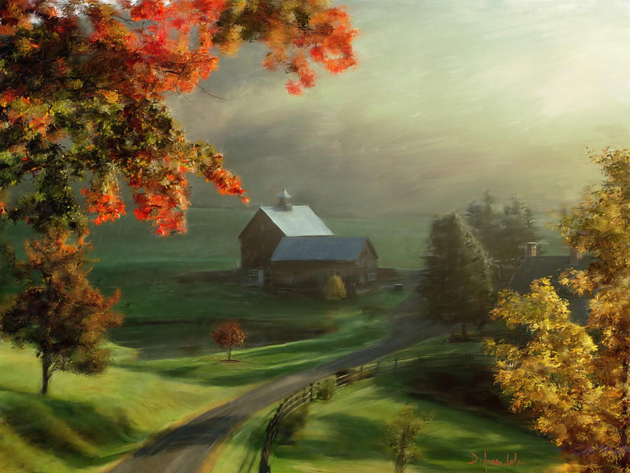 Landscape Painting - New England Landscape by Dominique Amendola