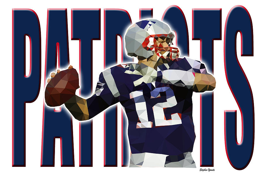 New England Patriots Digital Art By Stephen Younts