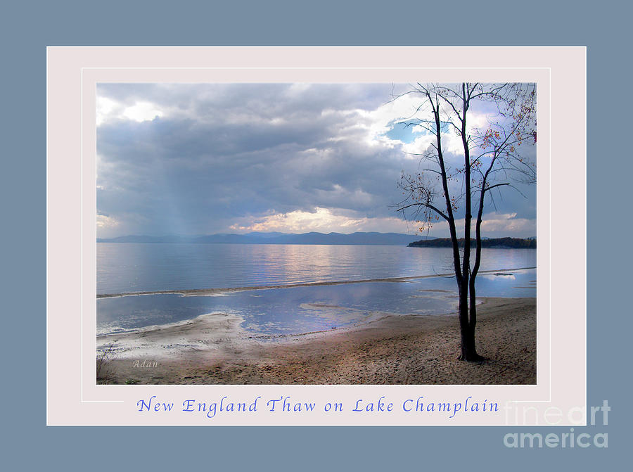 Licensing Photograph - New England Thaw On Lake Champlain Greeting Card Poster by Felipe Adan Lerma