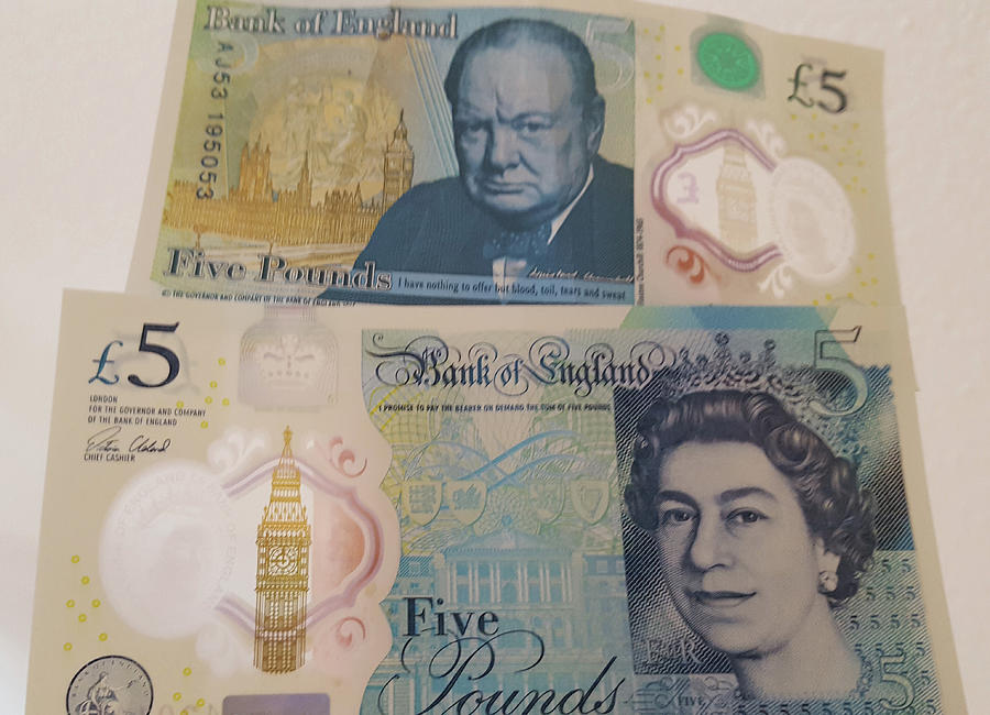 New Five Pound Notes Photograph by Travel Pics