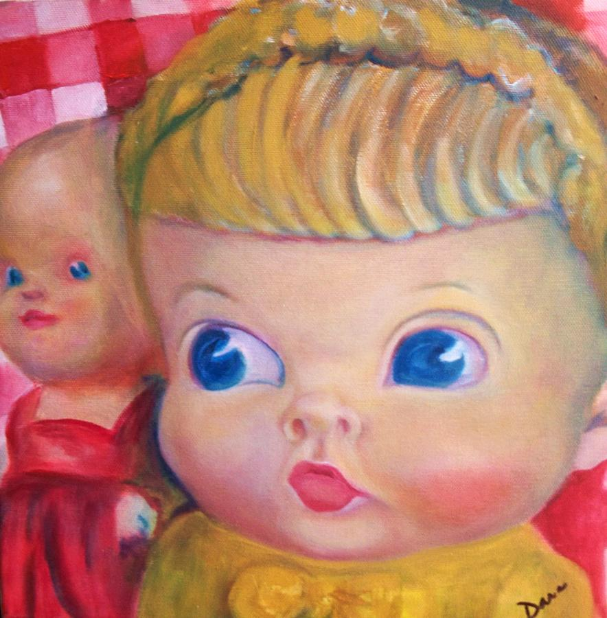 Doll Painting - New Girl In Town by Dana Redfern