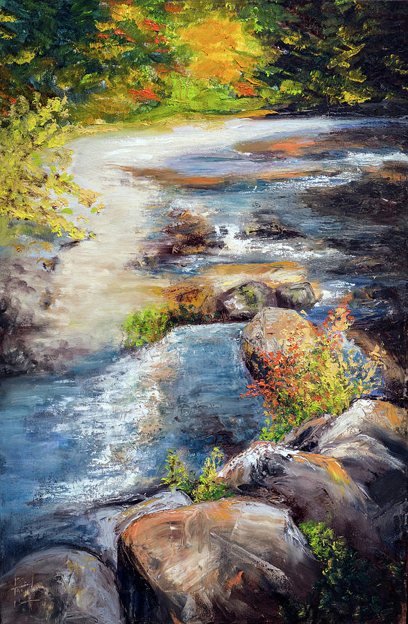 Creek Painting - New Hampshire Creek In Fall by Philip Lodwick Wilkinson