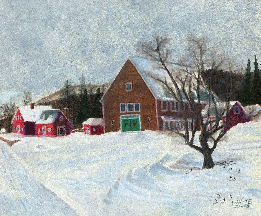 New Hampshire Farm in Winter by Dominic White