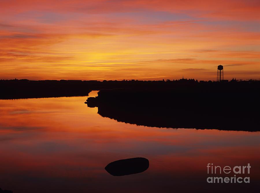 Atlantic Ocean Photograph - New Hampshire Salt Marsh At Sunrise by Erin Paul Donovan