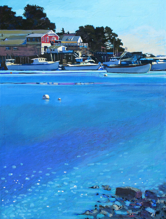 Maine Painting - New Harbor by Robert Bissett