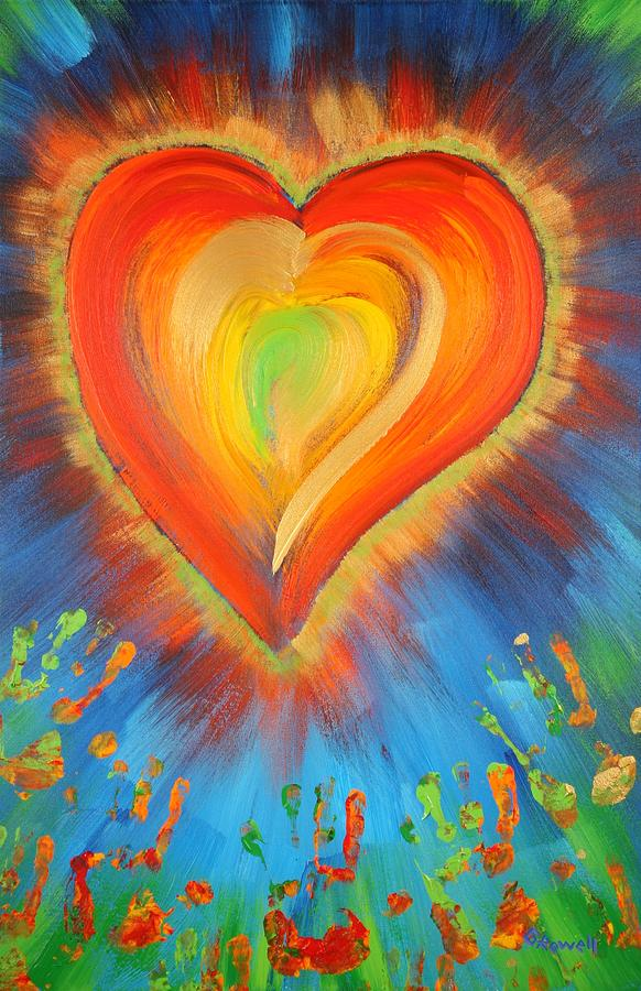 Heart Painting - New Heart by Gary Rowell