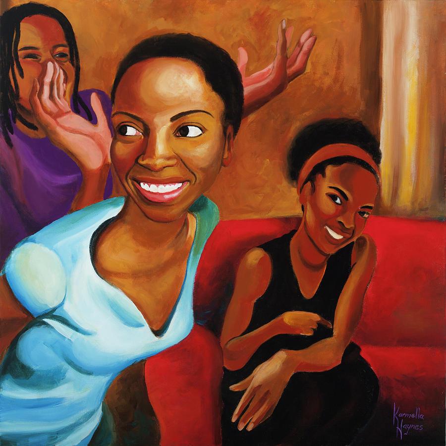 African-american Painting - New Haircut by Karmella Haynes