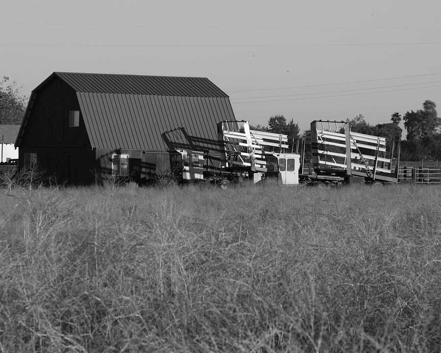 Agriculture Photograph - New Holland Bale Wagons by Troy Montemayor