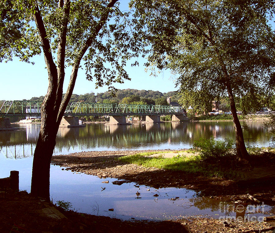 Bucks County Photograph - New Hope Lambertville Bridge by Addie Hocynec