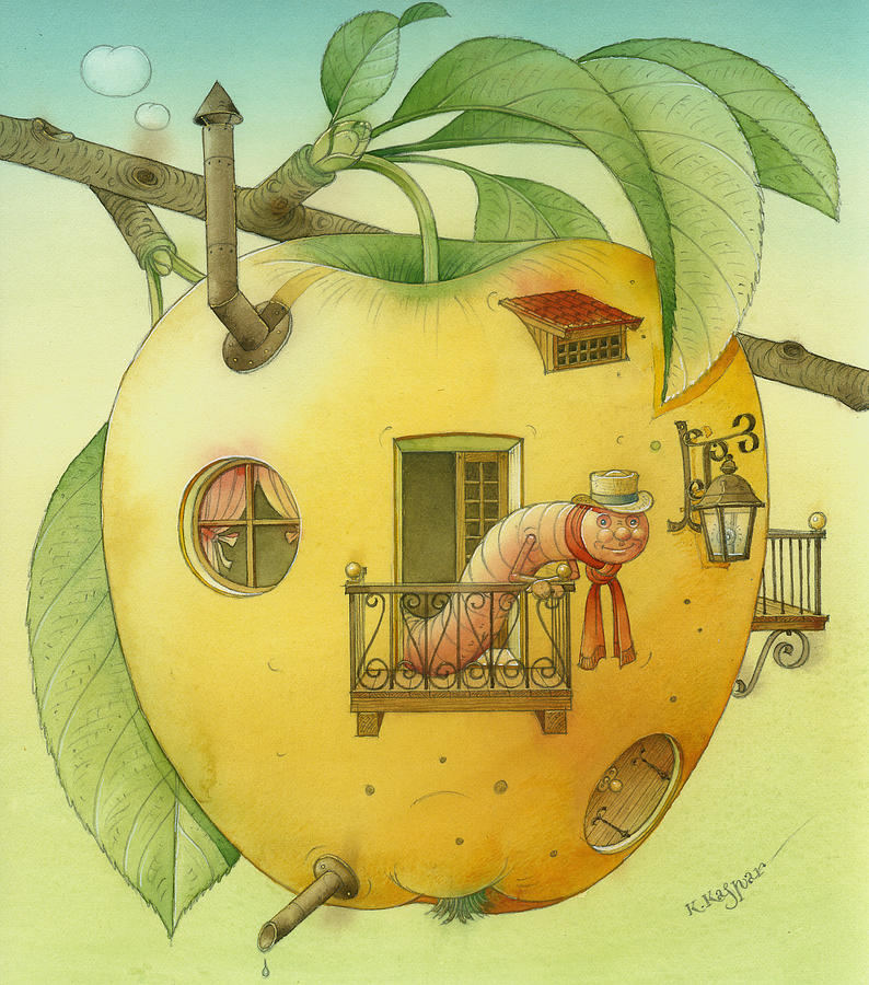 New House Painting by Kestutis Kasparavicius