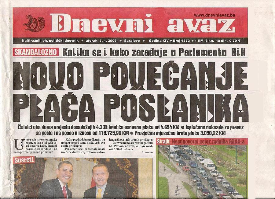 Mixed Media Mixed Media - New Increase In The Salaries Of Deputies by Ekrem Fetic
